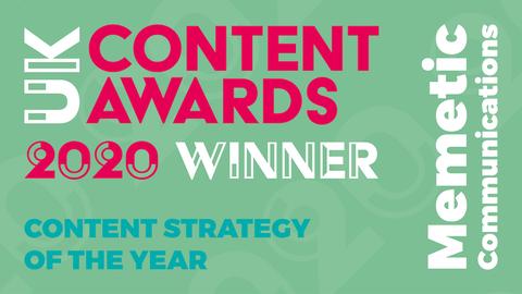 Content Award winner